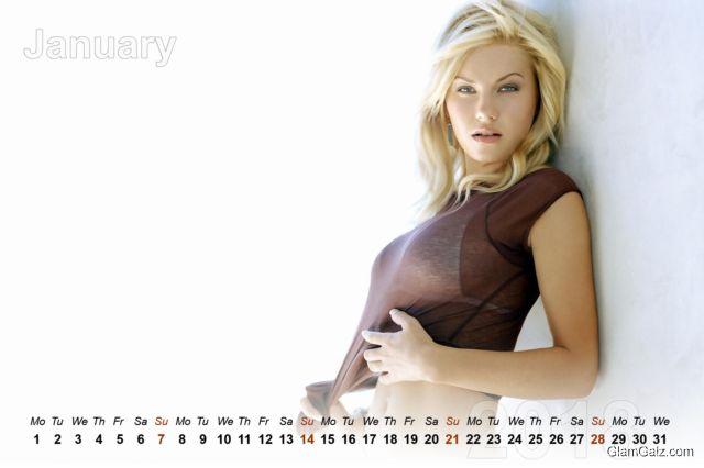 Click to Enlarge - Beautiful Women Calendar Of 2018