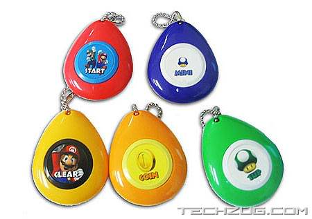 Super Mario Sound Drop Keychains